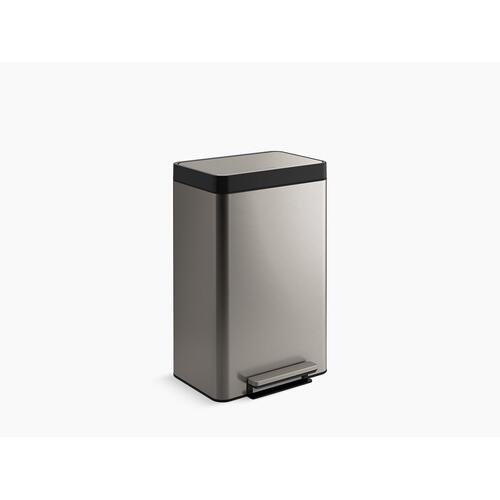Stainless Steel Dual-compartment Step Trash Can