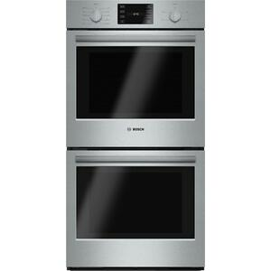 "Bosch500 Series, 27"", Double Wall Oven, SS, EU conv./Thermal, Knob Control"