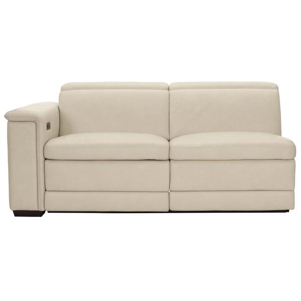Lioni Power Motion Left Arm Loveseat in Mocha (751)