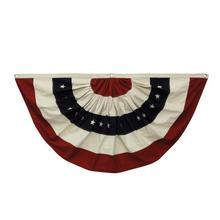 """View Product - 59""""L x 30""""H Cotton Fabric Americana Bunting w/ Grommets"""