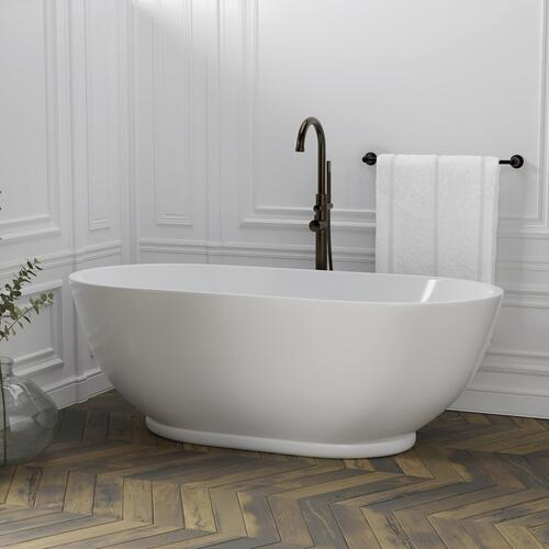"Radcliff 67"" Acrylic Oval Tub"