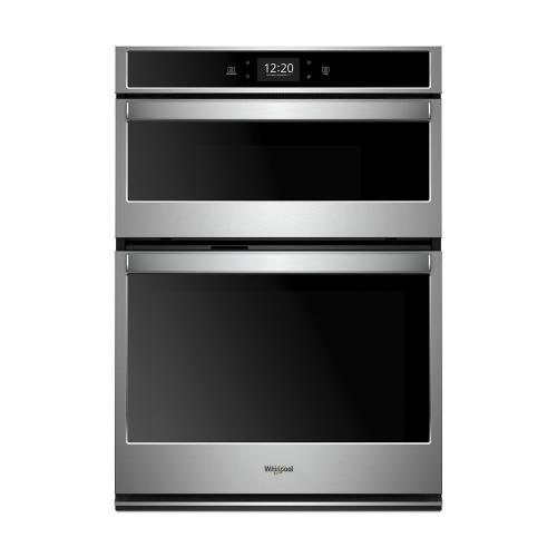 Whirlpool - 6.4 cu. ft. Smart Combination Wall Oven with Microwave Convection