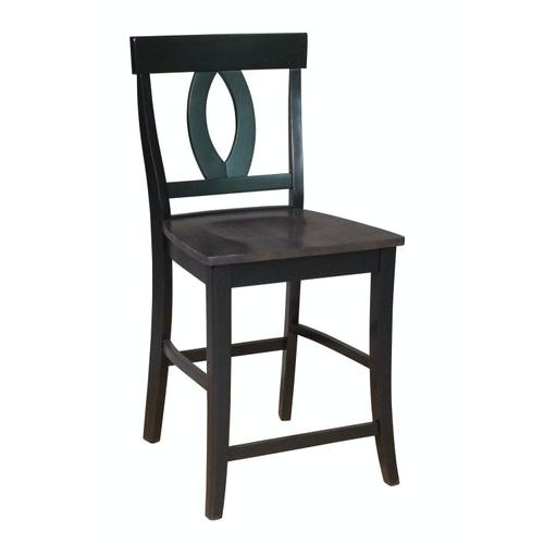 Verona Stool in Coal & Black