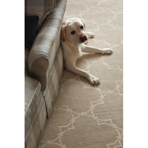 Quatrefoil Natural Linen Hand Knotted Rugs