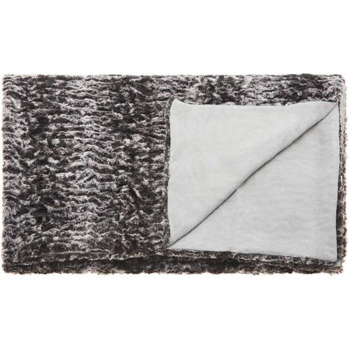 "Fur N9507 Grey 50"" X 70"" Throw Blanket"
