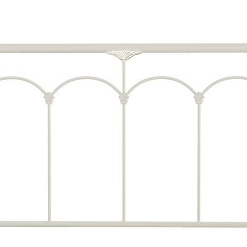 Jocelyn Queen Metal Bed, Soft White