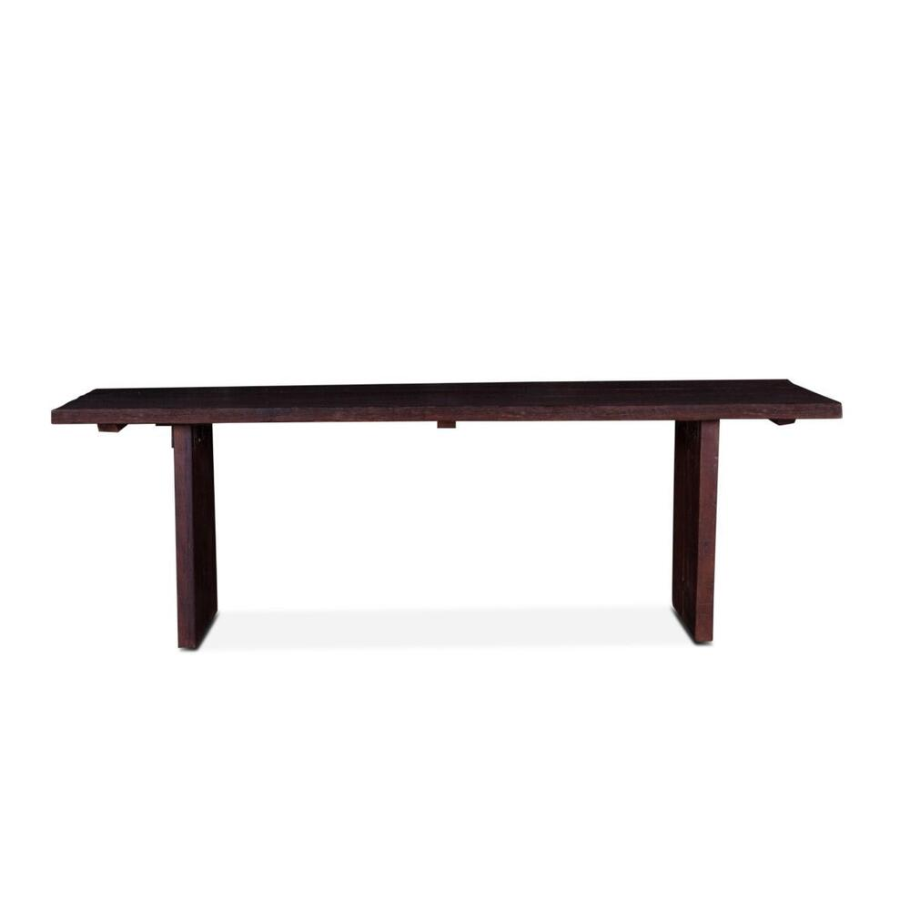 "See Details - Barnwood 94"" Dining Table Java Brown"