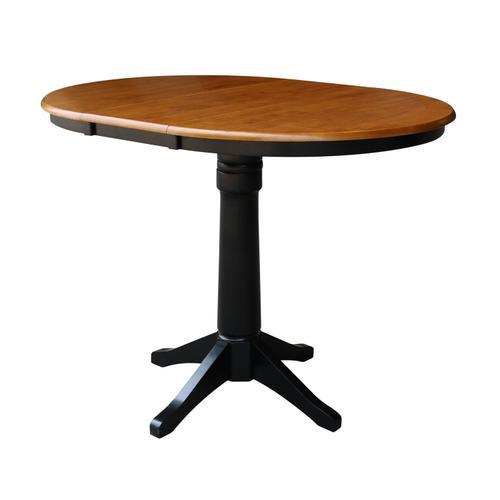 John Thomas Furniture - Round Extension Table in Cherry/Black
