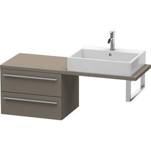 Low Cabinet For Console Compact, Flannel Gray Satin Matte (lacquer)
