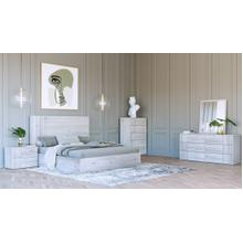 Nova Domus Asus - Modern Italian White Bedroom Set