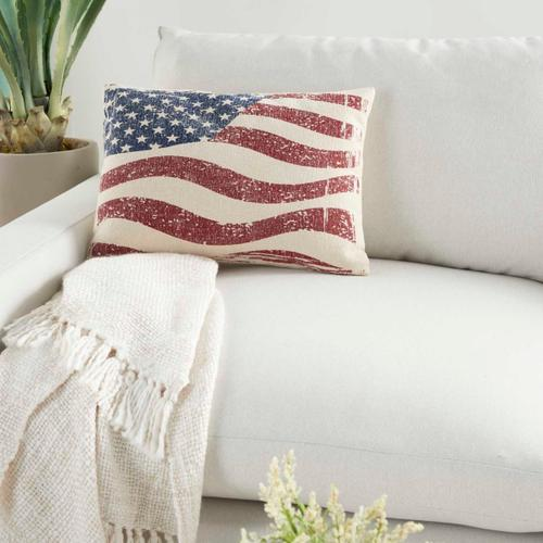 """Life Styles Dl513 Multicolor 14"""" X 20"""" Throw Pillow"""