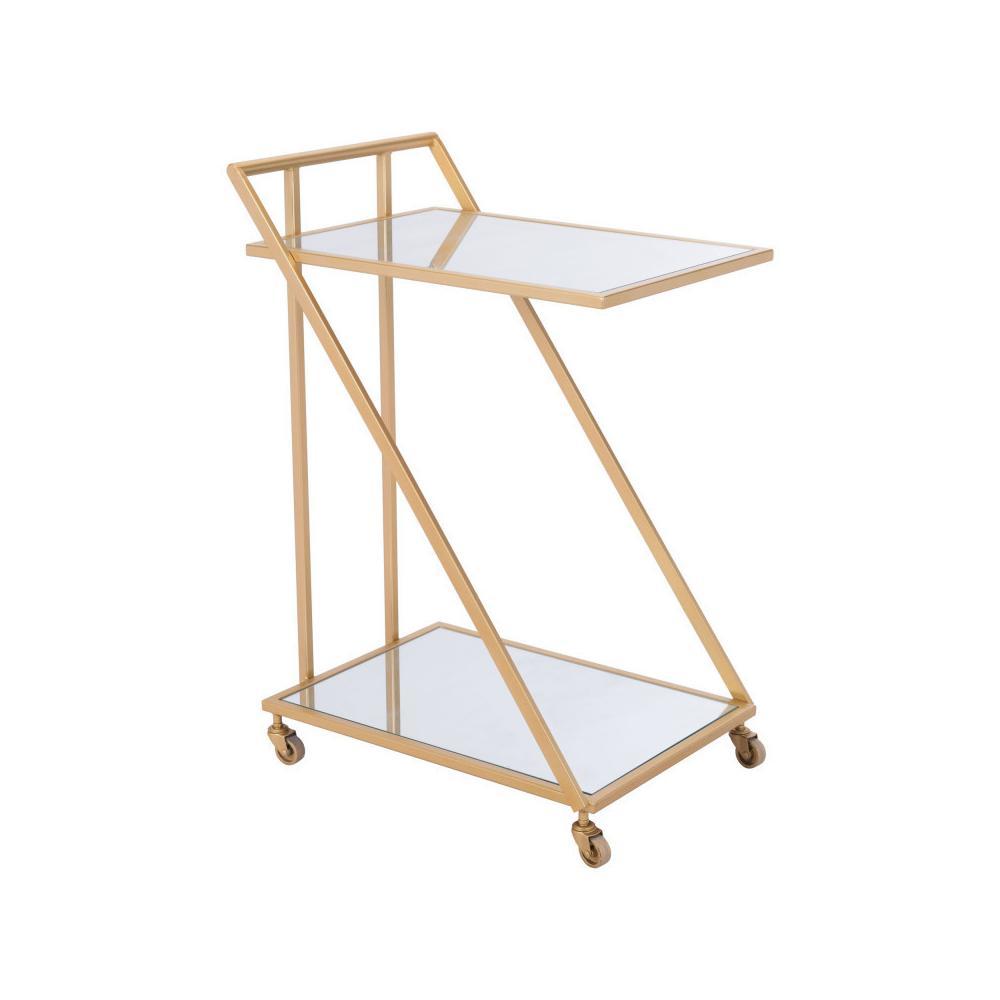 Alto Bar Cart Mirror & Gold