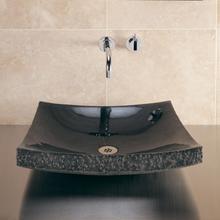 See Details - Purple Onyx Mosaic Zen Vessel Black Granite