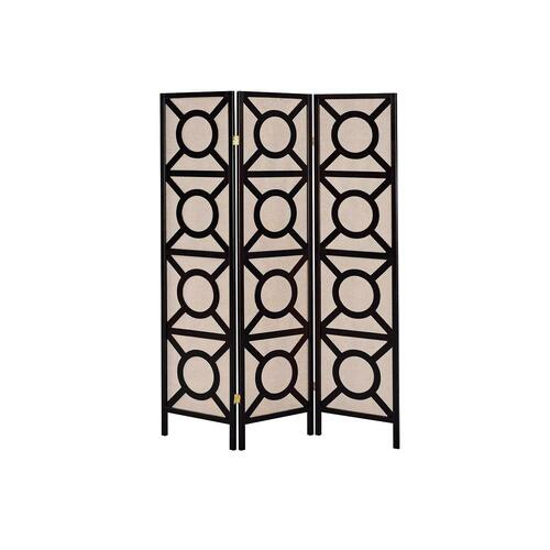 Transitional Cappuccino Folding Screen