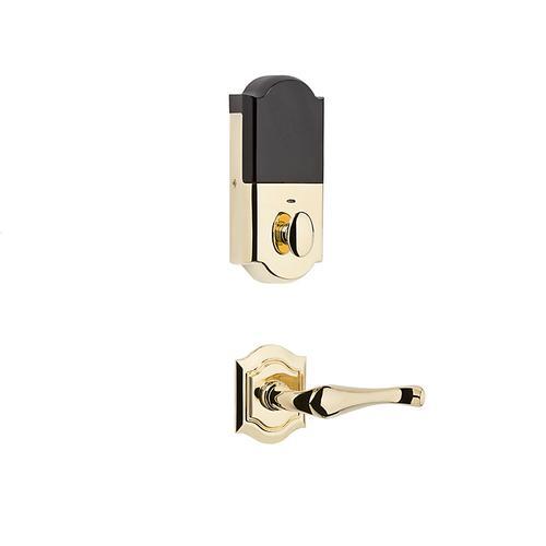 Baldwin - Lifetime Polished Brass Evolved Bethpage Lever Handleset