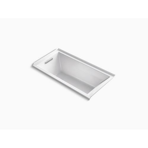 "Thunder Grey 60"" X 30"" Alcove Bath With Integral Flange and Left-hand Drain"