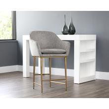 See Details - Bowman Counter Stool - fabric: flint grey