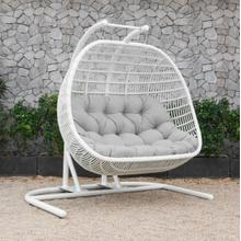 Renava San Juan Outdoor White & Grey Hanging Chair