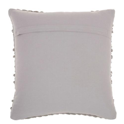 """Life Styles Gc102 Light Grey 18"""" X 18"""" Throw Pillow"""
