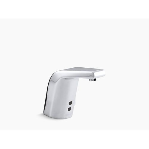 Polished Chrome Touchless Faucet With Insight Technology and Temperature Mixer, Dc-powered