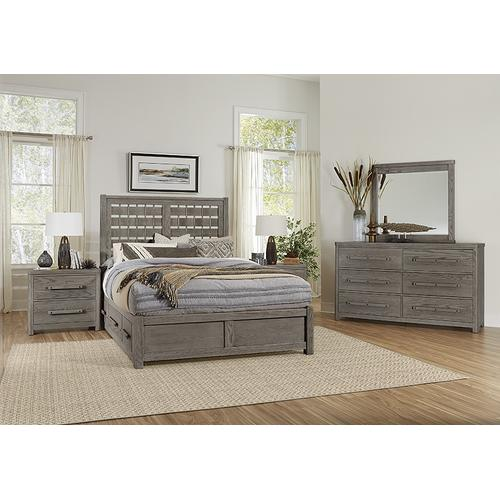 Queen - Horizontal Weave Bed with 2 Side Storage