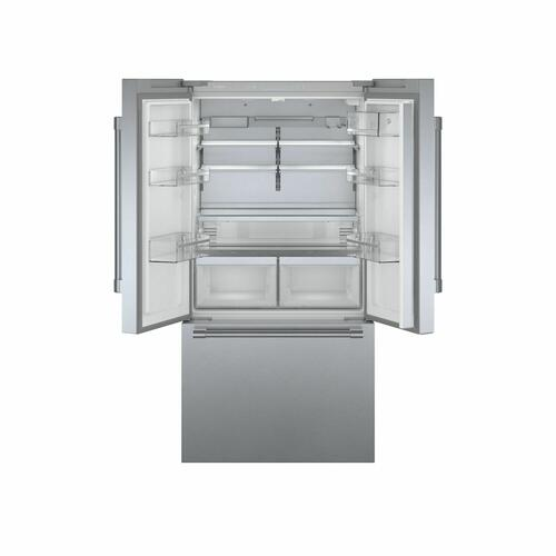Bosch - 800 Series French Door Bottom Mount Refrigerator 36'' Easy clean stainless steel B36CT81SNS