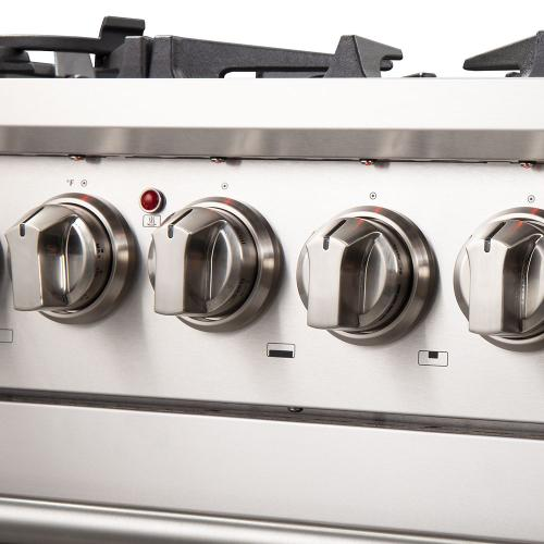 "Capriasca - Titanium Professional 30"" Freestanding Dual Fuel Range 240V Electic Oven and Gas Surface"