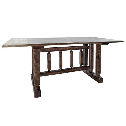 Montana Woodworks - Homestead Collection Trestle Dining Table, Stain and Lacquer Finish
