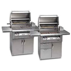 """Alfresco - 30"""" grill on cart with doors and Sear Zone"""