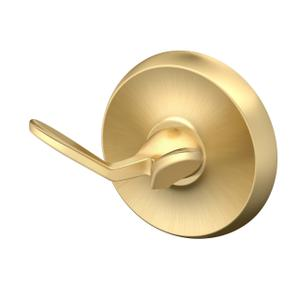 Designer II Robe Hook - Solid Brass in Brushed Brass Product Image
