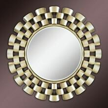 ACME Ives Accent Mirror (Wall) - 97101 - Champagne Silver