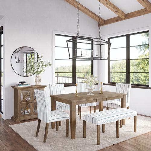 Jofran - Eastern Tides Ext Dining Table W/(4) Uph Chairs, Bench