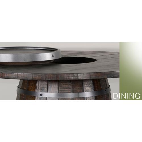 Round Pub Table/ Wine Barrel Base