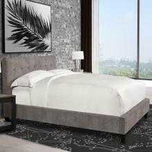 JODY - CORNFLOWER Upholstered Bed Collection (Grey)