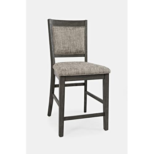 Altamonte Upholstered Counter Stool - Brushed Grey