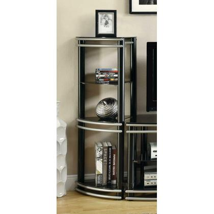 Contemporary Black and Silver Media Tower