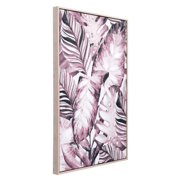 See Details - Tropical Palm Canvas Sepia