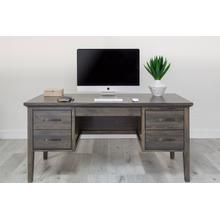 Office Double Pedestal Desk 26 Deep w/ Pencil Dr/Keyboard Tray LHF 1 File Dr, RHF 2 Reg Drs