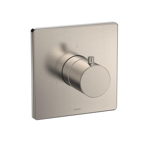 Three-way Diverter Trim - Square - Brushed Nickel