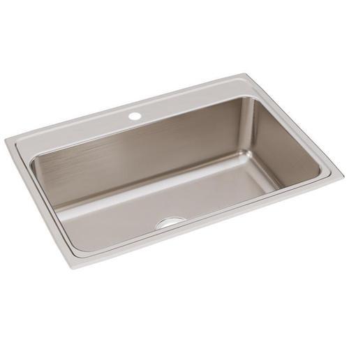 """Elkay Lustertone Classic Stainless Steel 31"""" x 22"""" x 10-1/8"""", Single Bowl Drop-in Sink"""