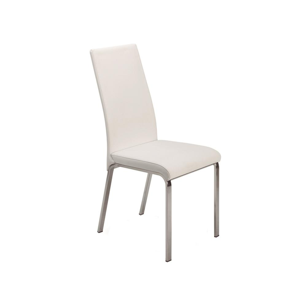 The Loto Italian White Leather Dining Chairs