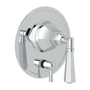 Palladian Pressure Balance Trim with Diverter - Polished Chrome with Metal Lever Handle