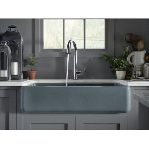 "Biscuit 35-11/16"" X 21-9/16"" X 9-5/8"" Smart Divide Undermount Double-bowl Large/medium Farmhouse Kitchen Sink"