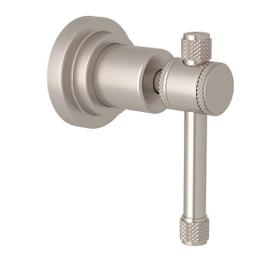 Campo Trim for Volume Control and 4-Port Dedicated Diverter - Satin Nickel with Industrial Metal Lever Handle