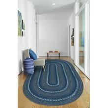 Woodbridge Coastal Blue Braided Rugs (Custom)