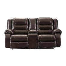 Vacherie DBL Rec Loveseat w/Console Chocolate