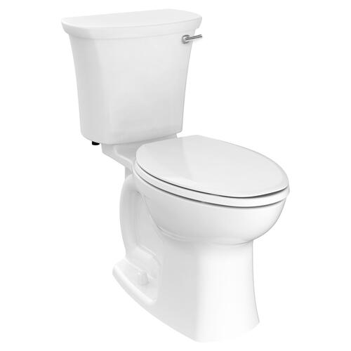 American Standard - Edgemere Right Height Elongated Toilet with Right Hand Trip Lever  American Standard - White