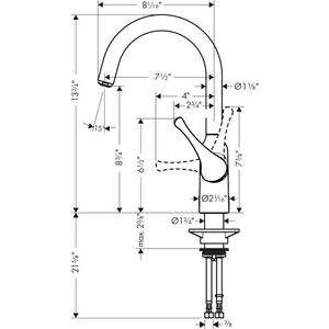 Chrome Bar Faucet, 1.75 GPM
