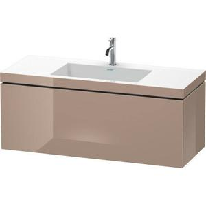 Furniture Washbasin C-bonded With Vanity Wall-mounted, Cappuccino High Gloss (lacquer)