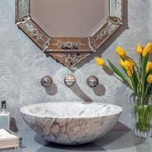 See Details - Polished Beveled Rim Sink Carrara Marble